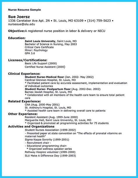Resume For Nursing high quality critical care resume sles
