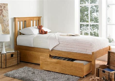 single wood bed frames malmo oak finish wooden bed frame light wood
