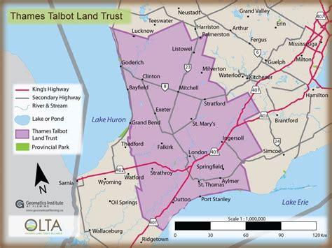 thames river map london ontario thames talbot land trust olta