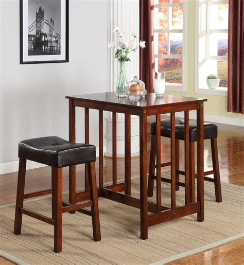 counter height dining breakfast set bar wood table stool kitchen living room ebay