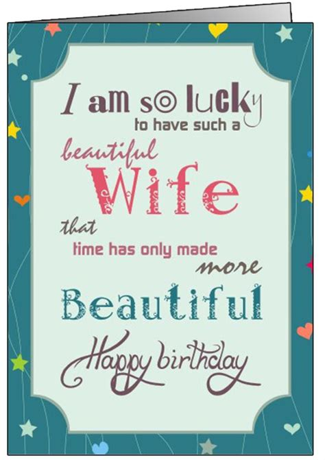 printable birthday cards for wife birthday cards for wife printable