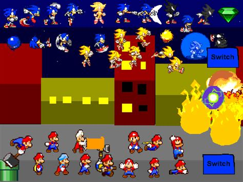 mario vs. sonic scene creator v.4 on scratch