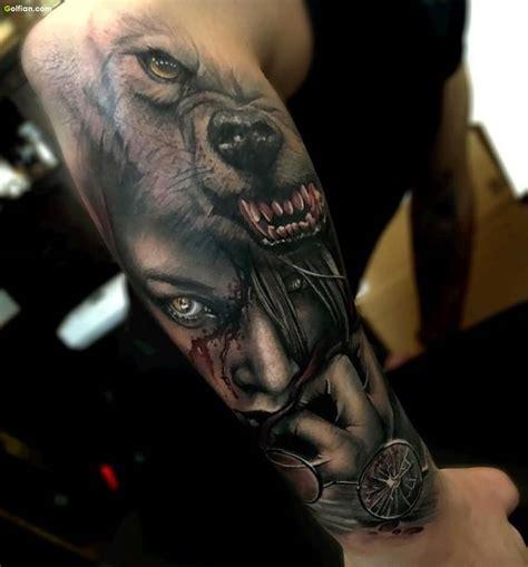 3d wolf tattoo 60 brilliant 3d arm tattoos realistic 3d sleeve