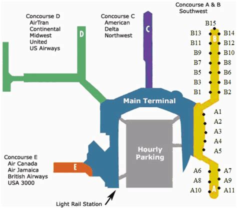 bwi terminal map southwest resources