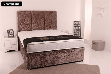 Side Opening Ottoman Bed Giltedge Beds Side Opening 3ft Single Ottoman Base Crushed Velvet