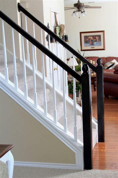 Banisters And Handrails by Painting Our Banister Simply Domestic