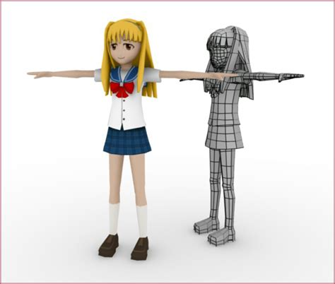 Free 3d Character Models Blender