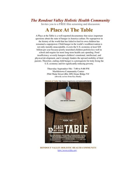 A Place At The Table by A Place At The Table Rondout Valley Holistic