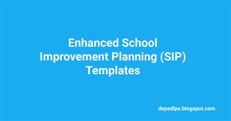 sip template enhanced school improvement planning sip templates