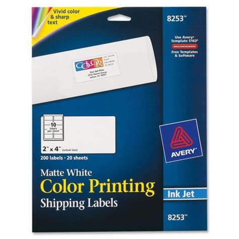 printing address labels from avery avery color printing labels ave8253 shoplet com