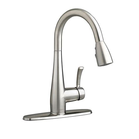 pull down kitchen faucets stainless steel american standard quince single handle pull down sprayer