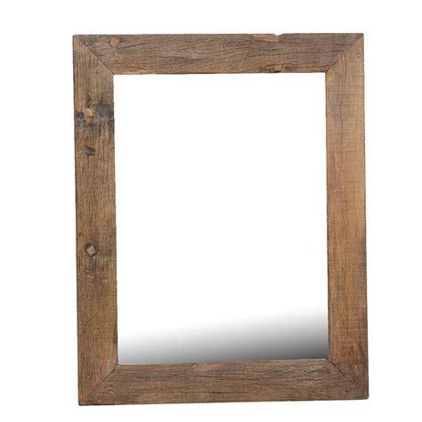 rustic wood frame appalachian rustic large reclaimed wood wall mirror w simple frame