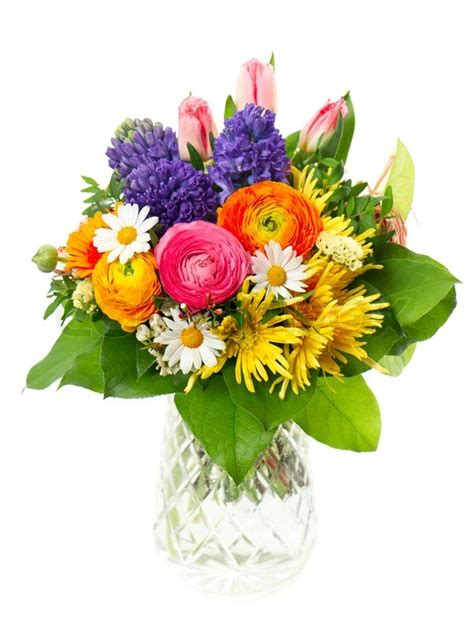 colorful spring flowers bouquet beautiful bouquet of colorful spring flowers stock photo