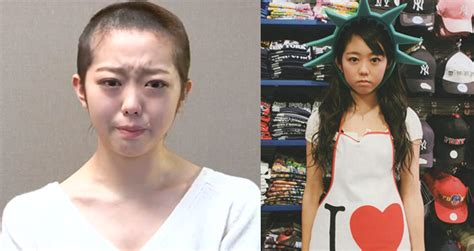 japan pop idols head shave apology stirs debate naharnet japanese pop idol shaves head tearily apologizes for