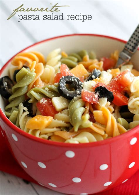 tasty pasta salad delicious pasta salad recipe