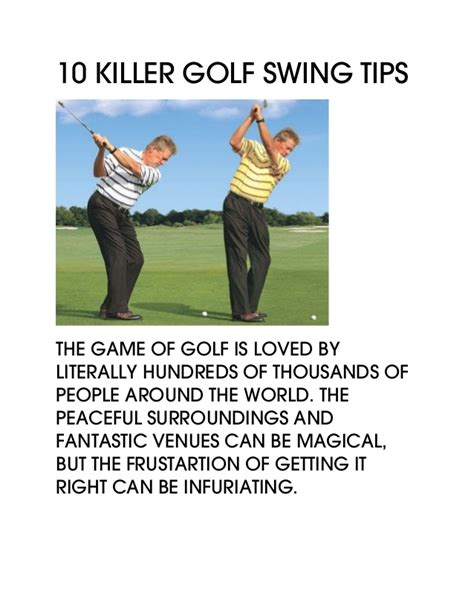 tips to improve golf swing 10 killer golf swing tips