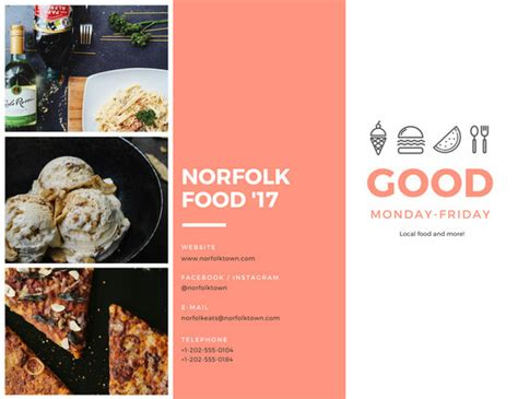 Festival Brochure Template by Food Festival Brochure Templates By Canva