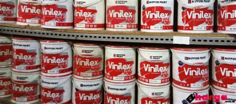 Harga Cat Akrilik 1 Kg daftar harga cat tembok interior eksterior merek vinilex