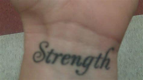 strength tattoos on wrist strength images designs