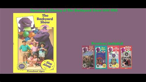 Barney And The Backyard Vhs by Barney The Backyard Show Vhs Www Pixshark Images