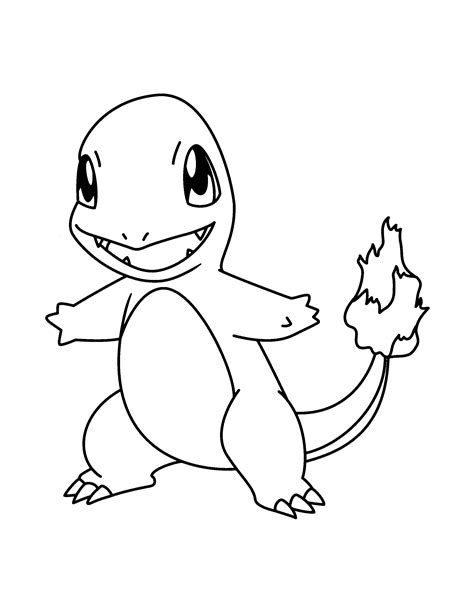 charmander coloring pages to download and print for free