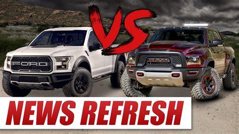 Dodge Ram Rebel Vs Raptor by Chevy Reaper Vs Ford Raptor Vs Dodge Ram Runner Www