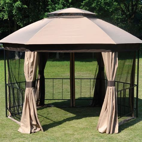 gazebo on line kensington luxury hexagonal gazebo buy at qd stores