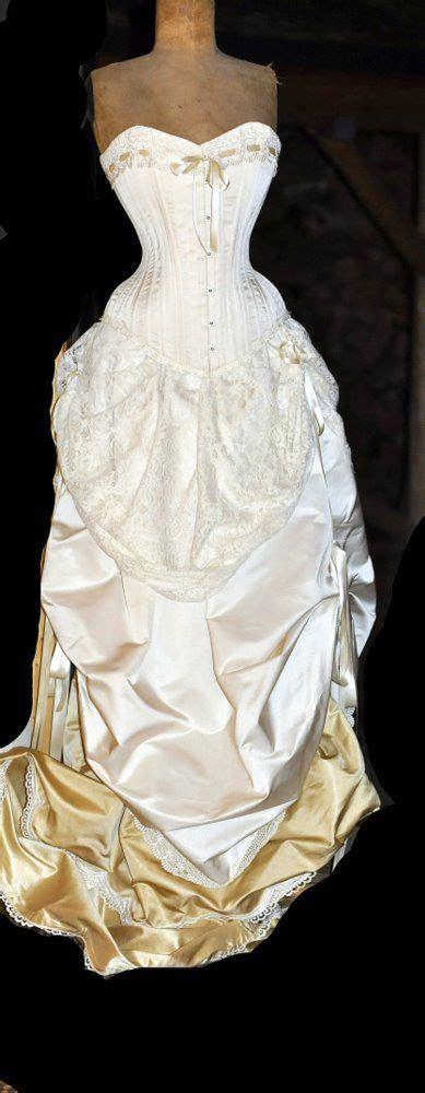 lace ivory victorian bustle skirt ivory wedding dress silk corset and bustle skirt
