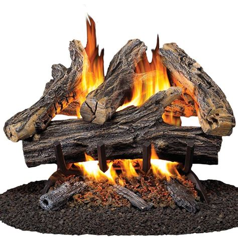 Vented Gas Log Fireplace by Procom 18 In Vented Gas Fireplace Log Set Wan18n