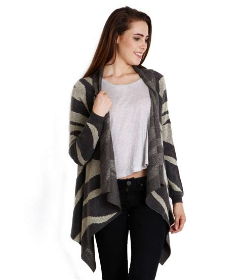 buy gray woollen shrugs at best prices in