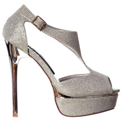 High Heels Gold Silver shoekandi high heel sparkly shimmer peep toe shoe gold or silver heel silver gold