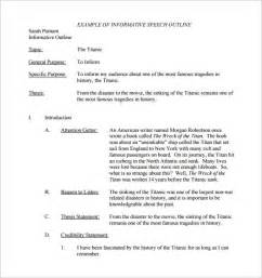 template for a speech 8 speech outline templates free pdf word documents