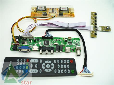 Lcd Tv Controller Board aliexpress buy tv hdmi vga av usb audio tv lcd driver board 19 quot m190a1 l0a l02 m190pw01 v0