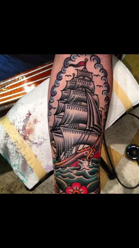 sailor jerry sleeve tattoo designs the 25 best traditional ship ideas on