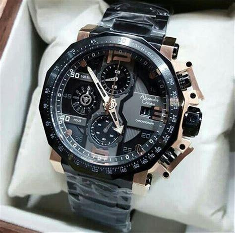 jual jam tangan alexandre christie pria ac  rose gold