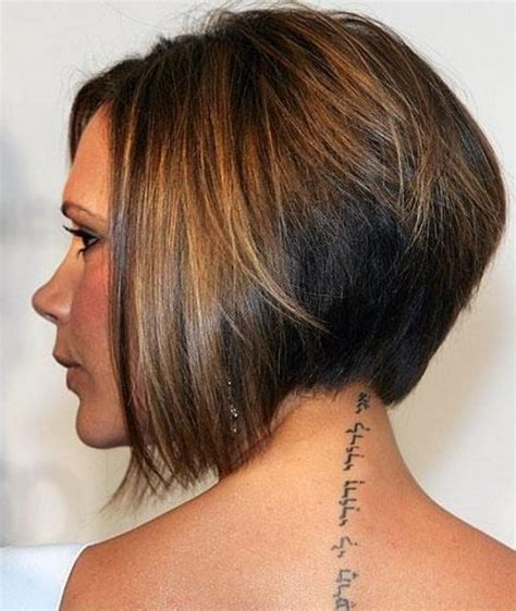 diy stacked bob side view of short wedge bob haircut styles weekly