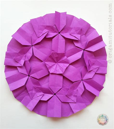 Origami Tessellations Tutorial - origami hydrangea 28 images origami miniature high