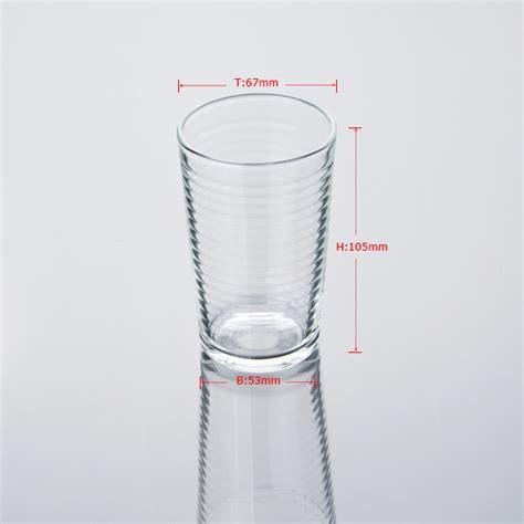Kaca Air garis bulatan cawan air kaca kaca air gelas pada okcandle