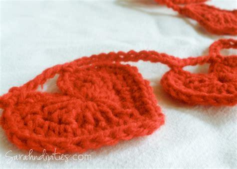 heart garland pattern tuesday tutorials crochet heart garland homegrown joy