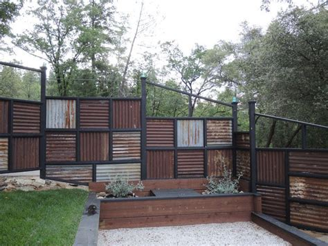 and fence roofing corrugated metal fence ideas fence made using
