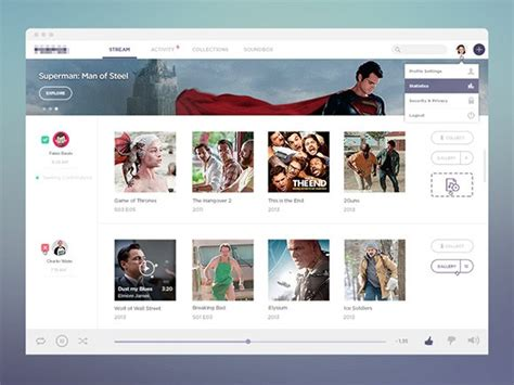 Stream Free Psd Template Freebiesbug Social Network Website Design Template