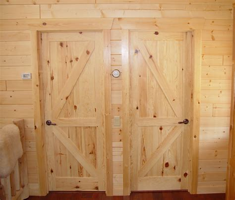 Rustic Lodge Log And Timber Furniture Handcrafted From Interior Pine Door