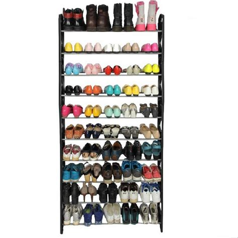 shoe storage 50 pairs 50 pair 10 tier shoe tower rack organizer space saving