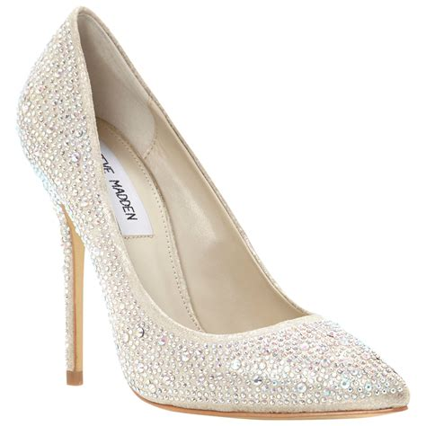 steve madden lenona pointed toe embellished court shoes in