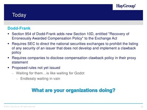section 954 dodd frank the next big compensation challenge clawbacks