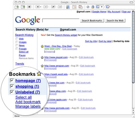 google images favorites they should do that integrate google bookmarks with search