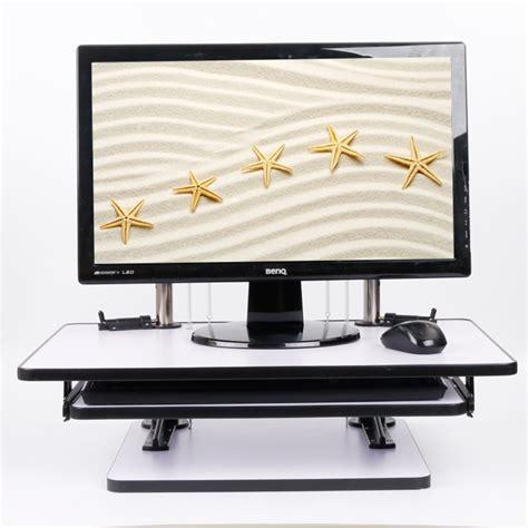 imac standing desk wood standing desk computer monitor stand workstation sit