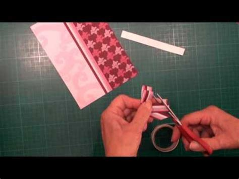 paper bow tutorial (card making magic.com) youtube
