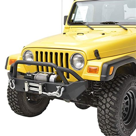 jeep yj winch tj yj road jeep wrangler front bumper with winch plate
