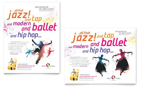 Dance Studio Poster Template Word Publisher Microsoft Poster Templates